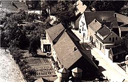 Wohnhaus der Familie Wältring (Luftaufnahme)
